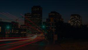 Night Ottawa view on Downtown